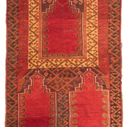 "Antique Yoruk Prayer Rug 3'4""×5'3"""