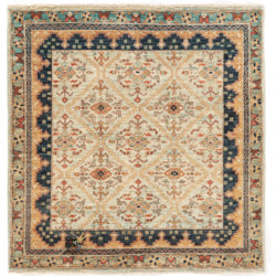 "New Afghan Faryab Small Rug 3'10""×3'11"""