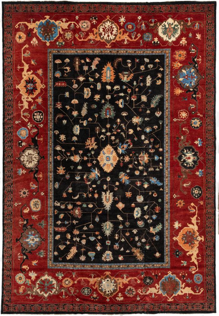 "New Afghan Heriz-style Mansion Carpet 14'7""×21'4"""