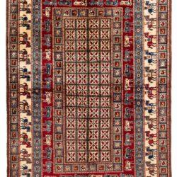 "New Afghan Pazaryk Rug 6'0""×9'0"""