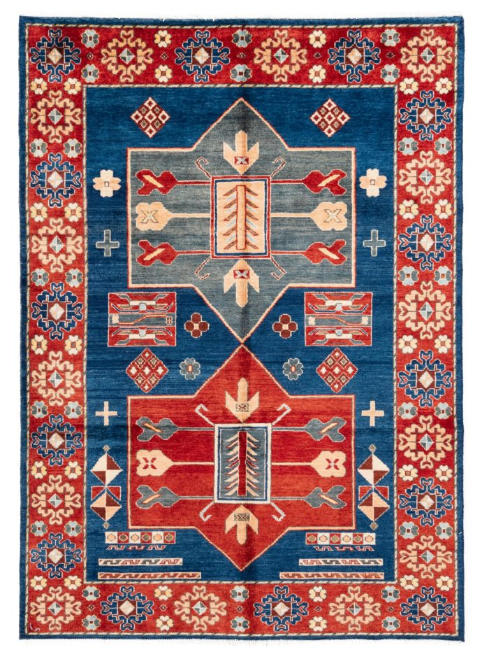 "New Afghan Rug Forgiveness 5'1""×7'1"""
