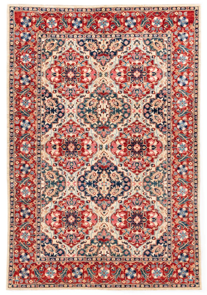 """New Afghan Rug Yezd 6'0""""×9'0"""""""