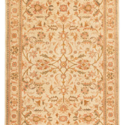 "New Afghan Rug with a Floral Design 3'11""×5'9"""