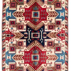"New Afghan Star Kazak Rug 5'11""×8'11"""