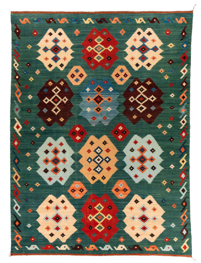 "New Afghan Transitional Kilim 9'4""×12'9"""