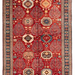 "New Afghan Tree Kazak 6'1""×8'7"""