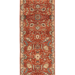 "New Afghani Floral Field Runner 2'9""×9'9"""