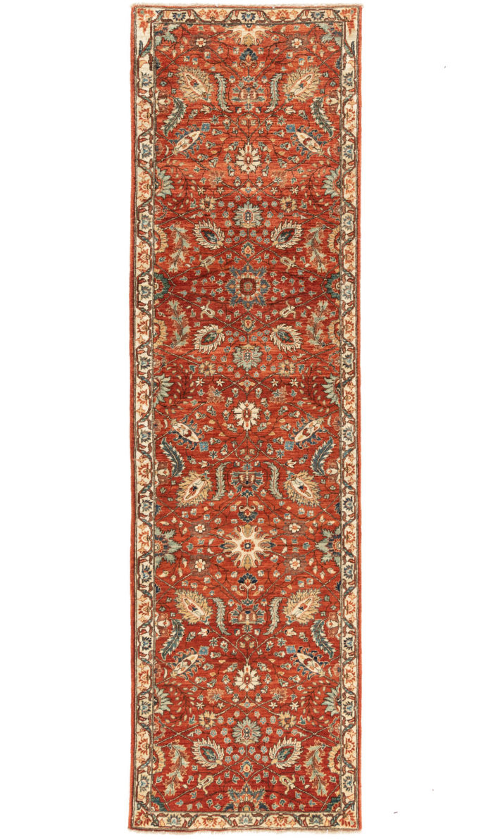 """New Afghani Floral Field Runner 2'9""""×9'9"""""""