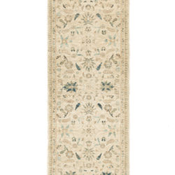 "New Afghani Ivory Floral Field Runner 2'10""×9'9"""