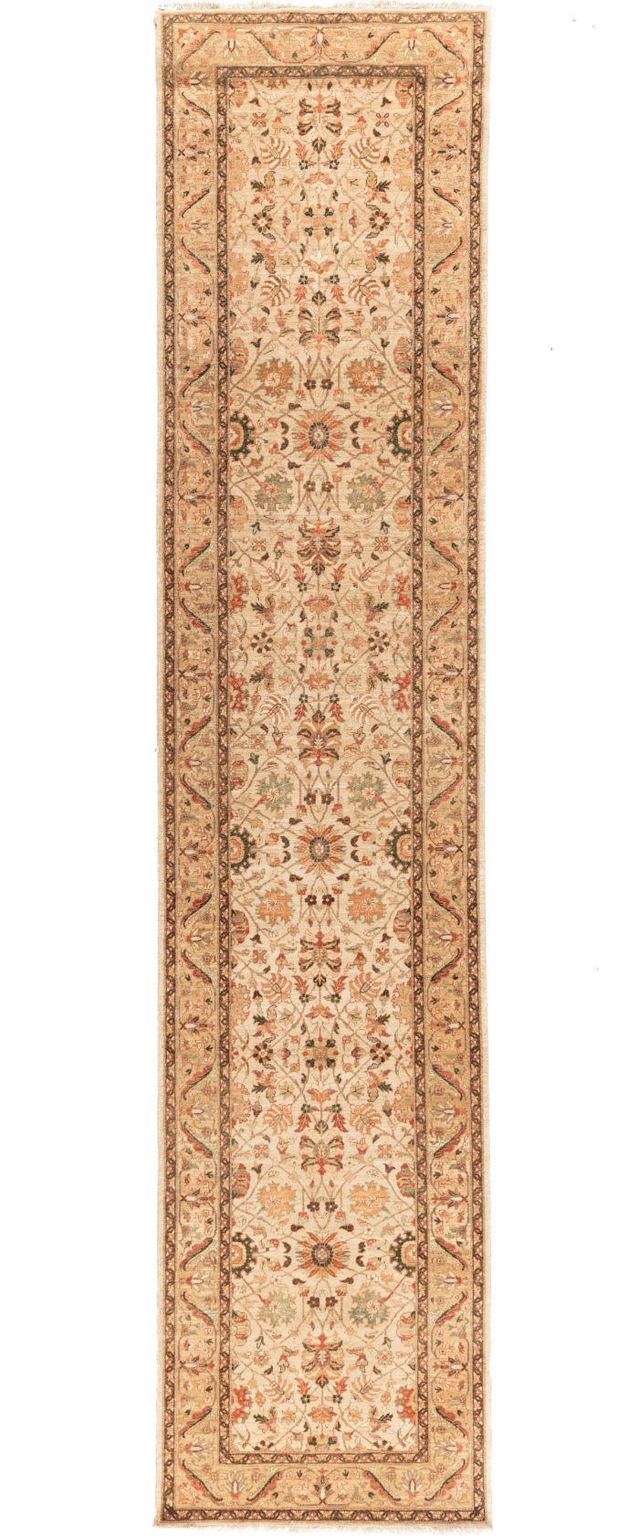 "New Afghani Offerings Floral Field Runner 2'9""×12'7"""