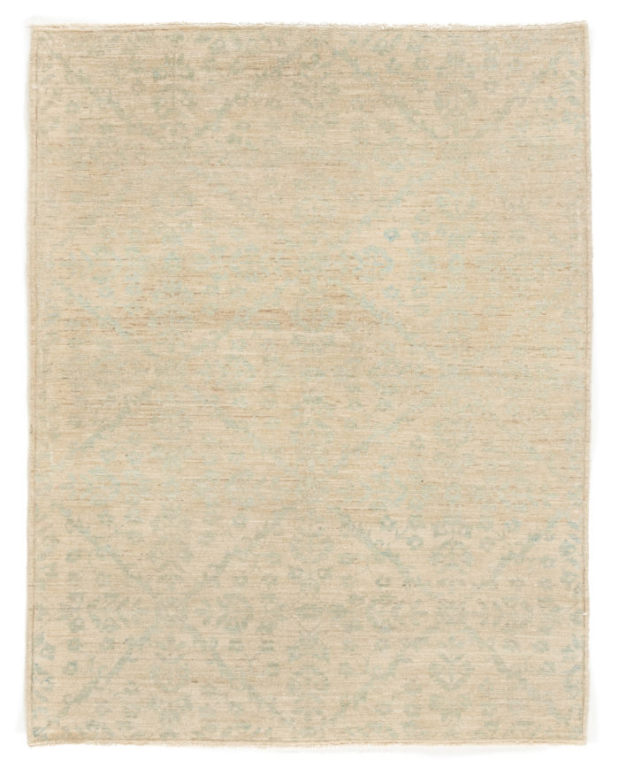 "New Antique-Style Afghani Rug 4'4""×5'7"""