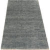 "New Blue and Ivory Wool Hand-Knotted Area Rug 3'0""×5'6"""