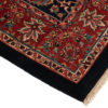 """New Gabbeh Rug with Navy Field and Red Border 5'2""""×7'0"""""""