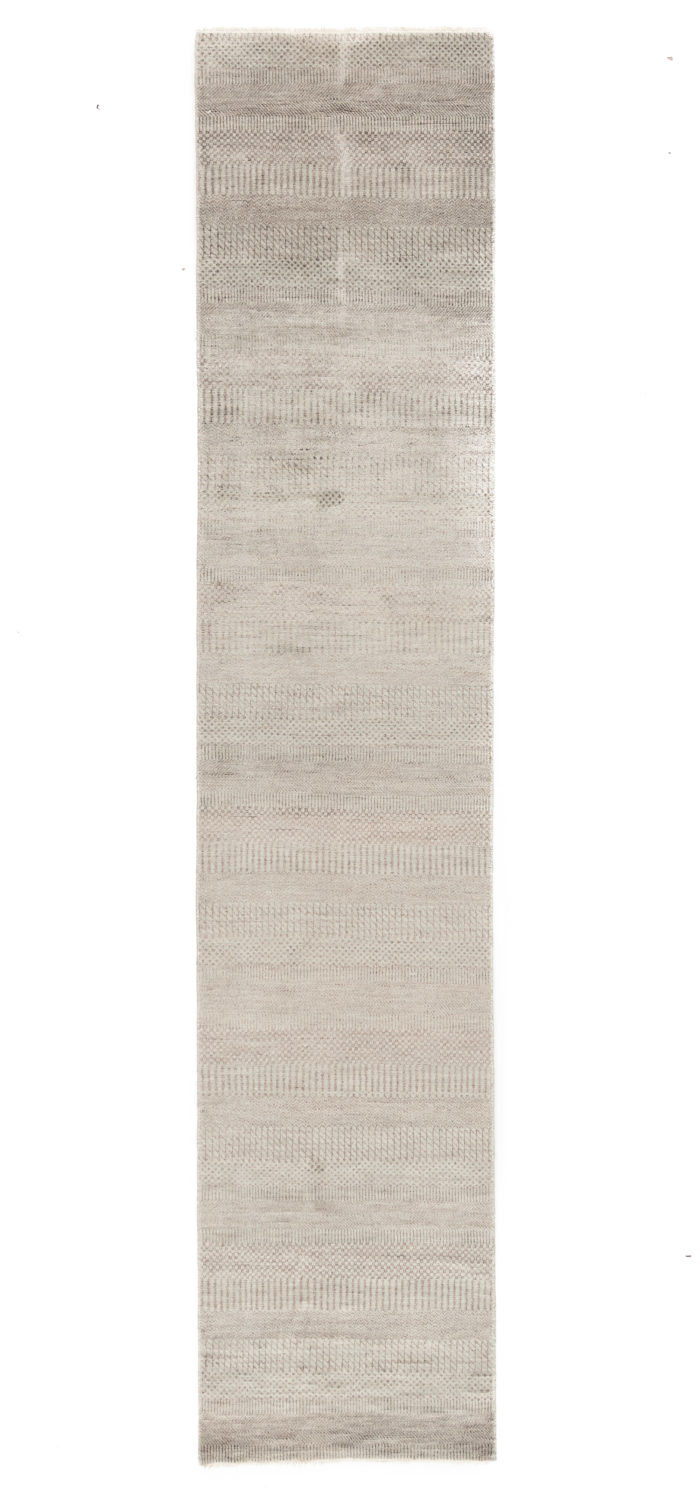 """New Hand-Knotted Indo Runner 2'6""""×12'0"""""""