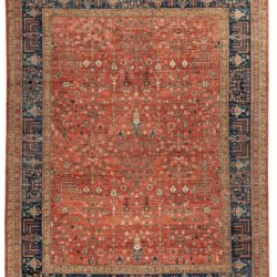 "New Hand-Knotted Modern Serapi Style Rug 9'2""×11'10"""