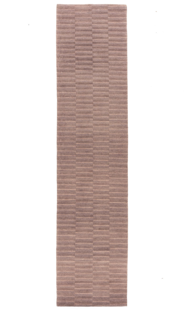"New Hand-Knotted Tibetian Brown Wool Runner 2'9""×11'6"""