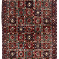 "New Hand-Knotted Wool Rug 5'1""×6'7"""
