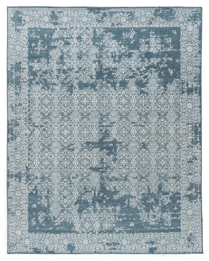 "New Indo Ikat Floral Geometric Field Rug 7'10""×10'0"""