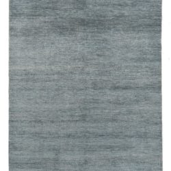 "New Indo Savannah Transitional Blue and Ivory Rug 6'1""×9'1"""