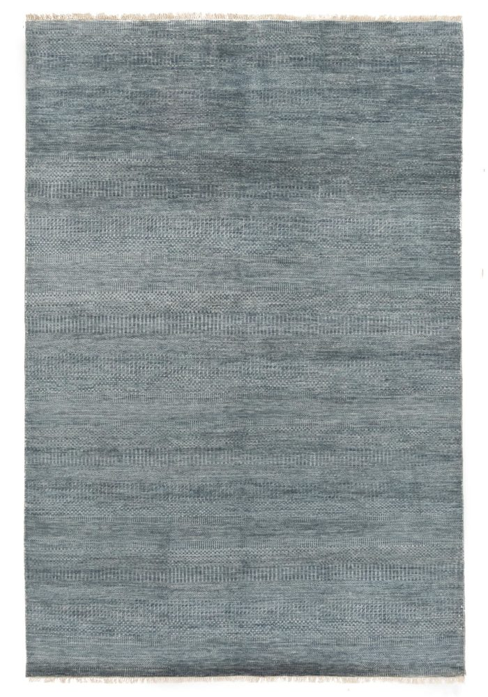 """New Indo Savannah Transitional Blue and Ivory Rug 6'1""""×9'1"""""""