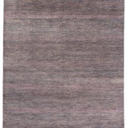 "New Indo Savannah Transitional Gray Purple Rug 6'3""×9'2"""
