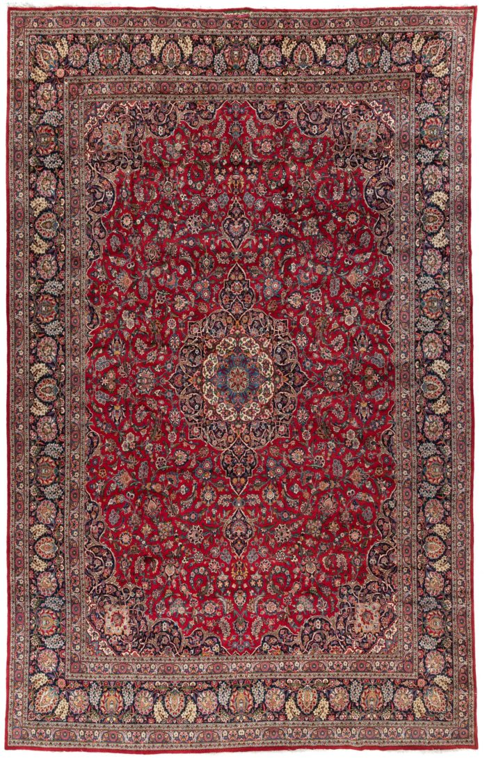 "New Kashan Persian Large Rug 9'8""×16'10"""