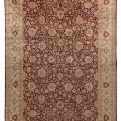 "New Large Pak Agra Wool Rug in Burgundy and Earth Tones 12'2""×18'6"""