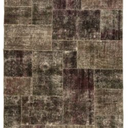"New Over-Dyed Patchwork Rug 6'3""×9'0"""