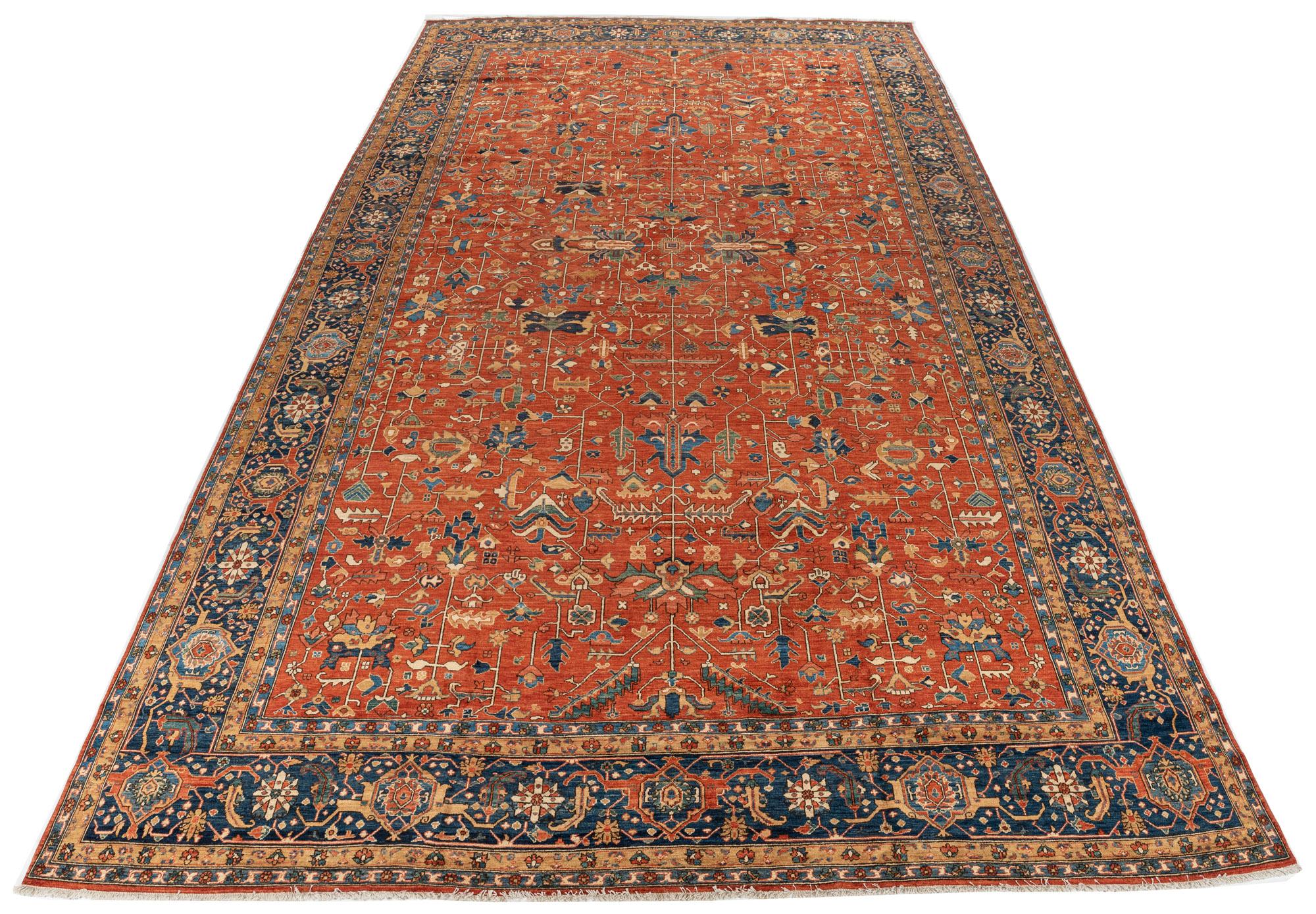 "New Pak Heriz Serapi Carpet 11'10""×19'10"""