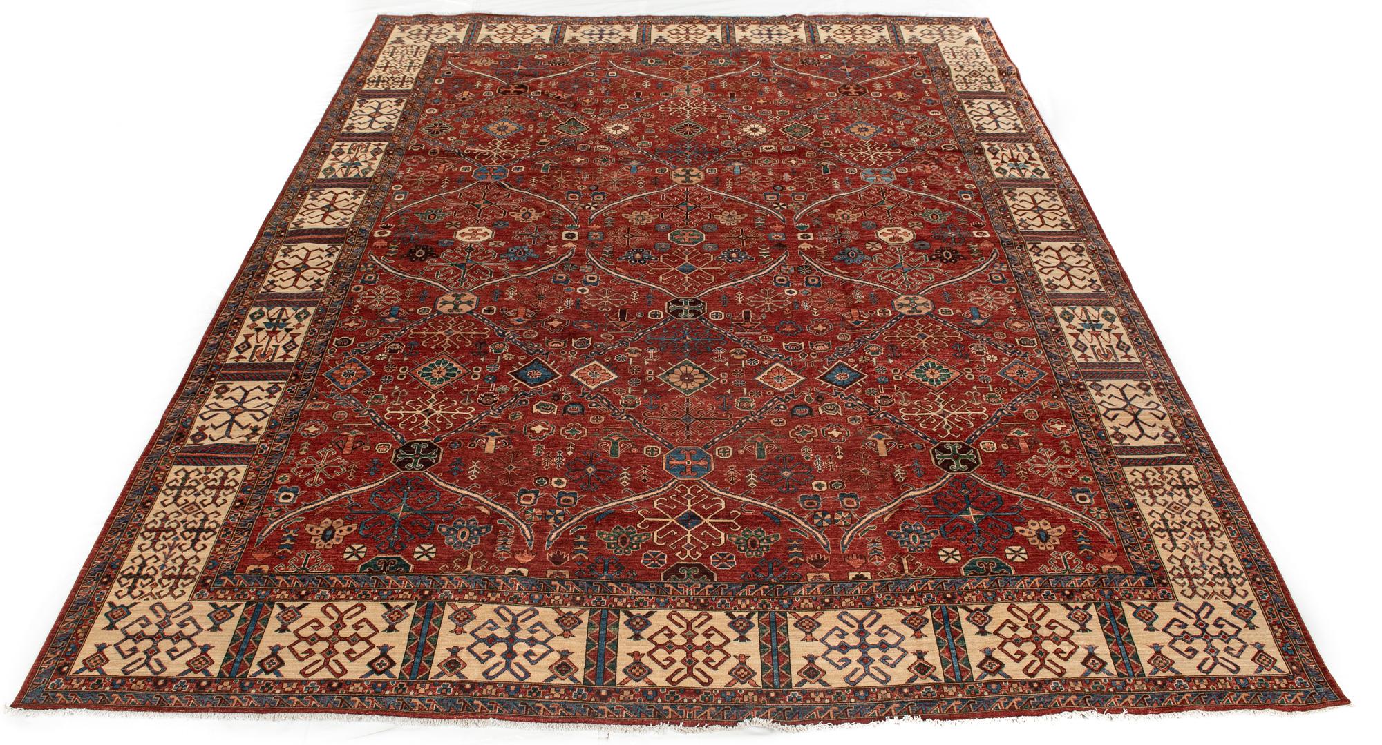 "New Pak Heriz-style Carpet 11'10""×15'1"""