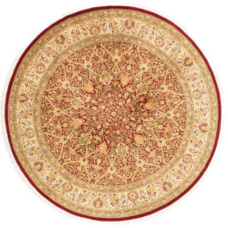 "New Pak Kashun Central Medallion Round Floral Rug 8'1""×8'1"""