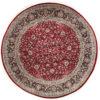 "New Pak Kashun Round Floral Field Rug 7'10""×7'10"""