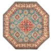 "New Pak Kazak Tribal Geometric Central Medallion Rug 5'1""×5'2"""