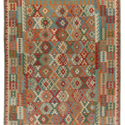 "New Pak Kilim All-Over Geometric Design Rug 8'4""×11'1"""