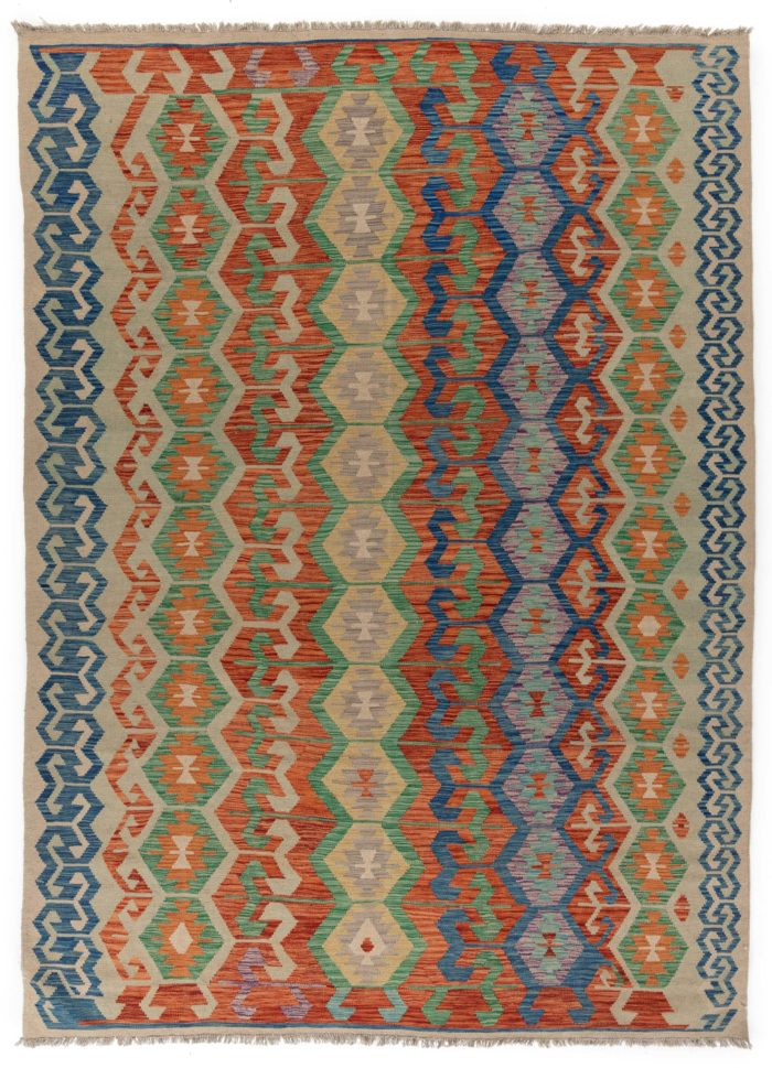 "New Pak Kilim All-Over Geometric Design Rug 8'1""×11'6"""