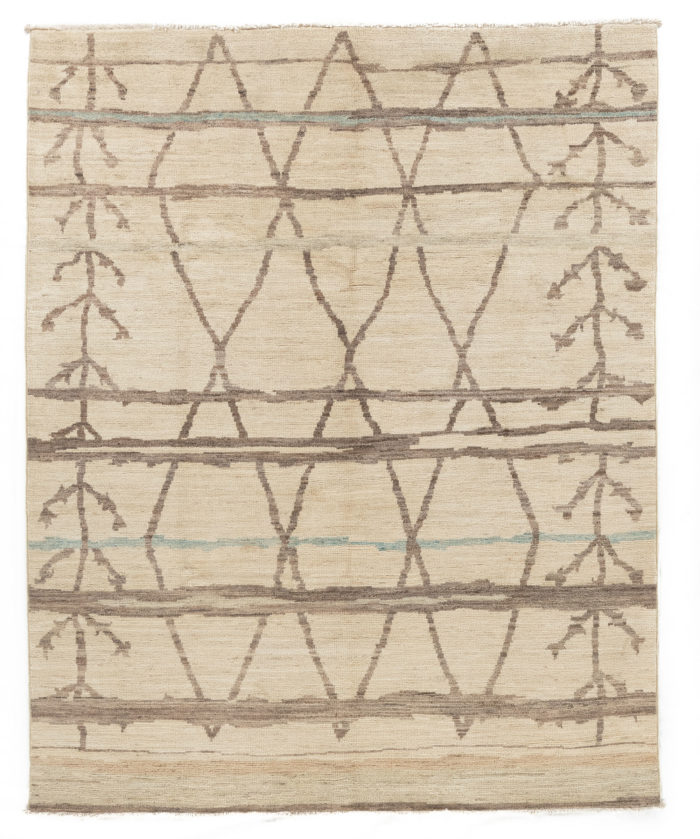 "New Pak Moroccan-style Small Carpet 7'8""×9'5"""