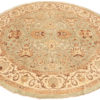 """New Pak Oushak Round Floral Field Rug 9'2""""×9'2"""""""