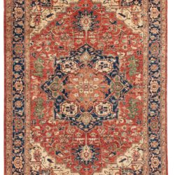 "New Pak Shirvan Rug with Medallion 6'1""×8'9"""