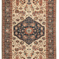 "New Pak Shirvan Rug with an Elegant Floral Design 6'2""×10'7"""