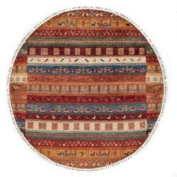 """New Pak Tribal Round Rug 6'7""""×6'7"""""""