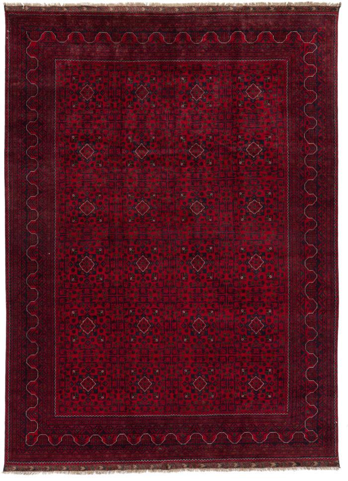 """New Paki Bokara Design Hand-Knotted Wool Rug 8'5""""×11'3"""""""