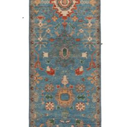 "New Pakistani Transitional Hand-Knotted Serapi Style Runner 2'9""×10'2"""