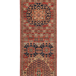 "New Pakistani Transitional Hand-Knotted Serapi Style Wool Runner 2'7""×9'10"""