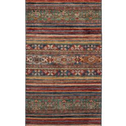 "New Pakistani Transitional Hand-Knotted Tribal Wool Runner 2'9""×9'10"""