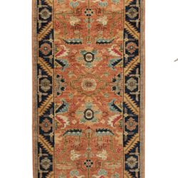 "New Pakistani Transitional Hand-Knotted Wool Serapi Style Runner 2'8""×9'7"""