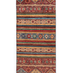 "New Pakistani Tribal-style Small Runner 2'7""×8'2"""