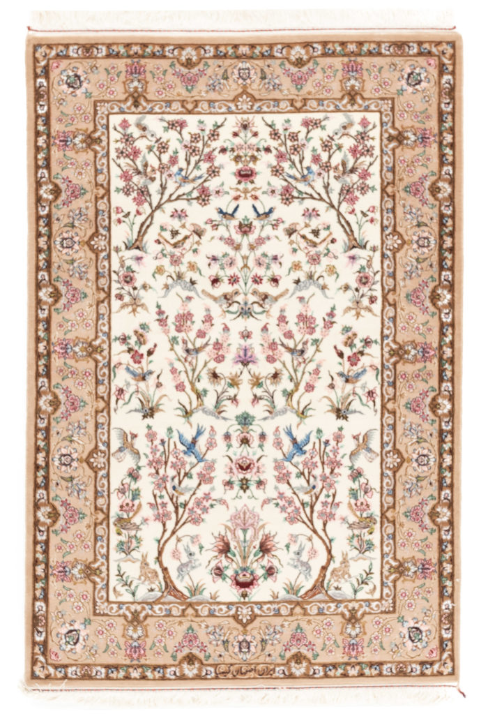 "New Persian Isfahan Rug 3'7""×5'5"""