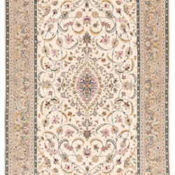 "New Persian Isfahan Rug 4'3""×6'10"""