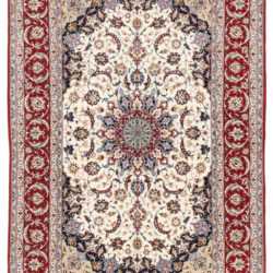 "New Persian Isfahan Rug 5'1""×7'8"""