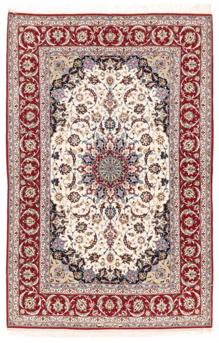 """New Persian Isfahan Rug 5'1""""×7'8"""""""